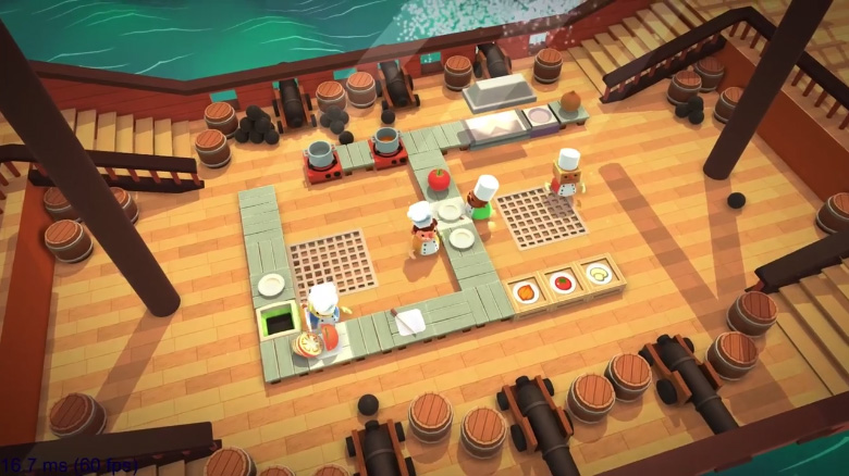 Overcooked gameplay PS4